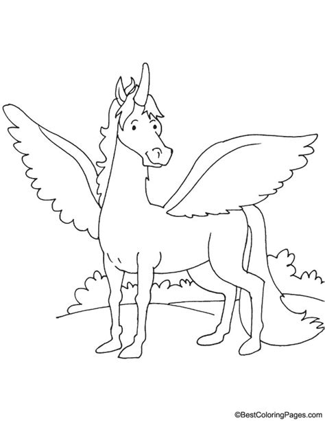 coloring pages of horses with wings winged coloring page free winged