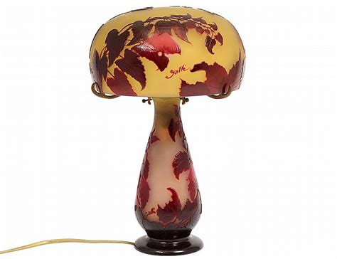 galle glass l shade galle cameo glass lamp and shade