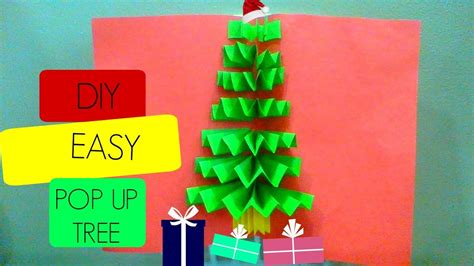 easy up christmas trees diy 3d pop up tree card cards easy and fast