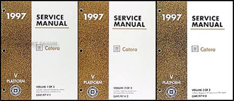 car repair manual download 1997 cadillac catera interior lighting 1997 cadillac catera repair shop manual original 3 volume set