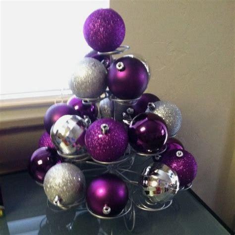 arbol navidad morado decoraci 243 n navide 241 a plata y morado