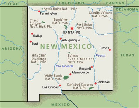 New Mexico City Map by New Mexico Map And New Mexico Satellite Images