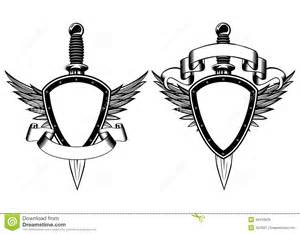 shield and dagger stock vector image 39416826
