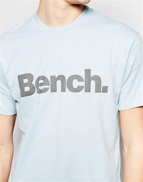 bench shirts for men bench logo t shirt in blue for men lyst