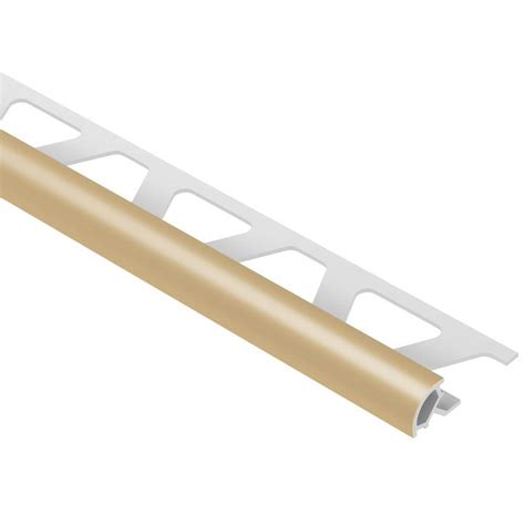 schluter rondec light beige 5 16 in x 8 ft 2 1 2 in pvc bullnose tile edging trim pro80hb