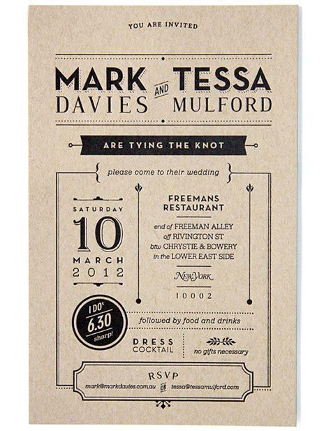 Graphic Design: Wedding Invitation by Tessa Mulford ? AMS