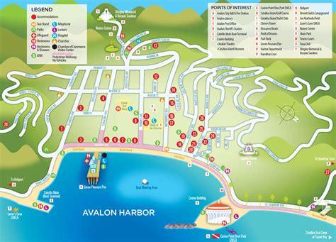 Map of Avalon   Catalina Island
