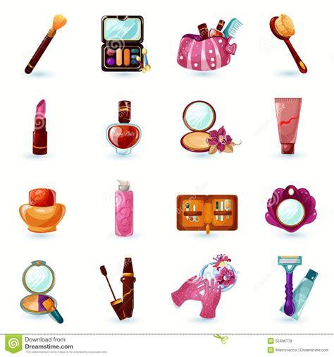 makeup cartoon wallpaper cosmetics icons set stock vector illustration of