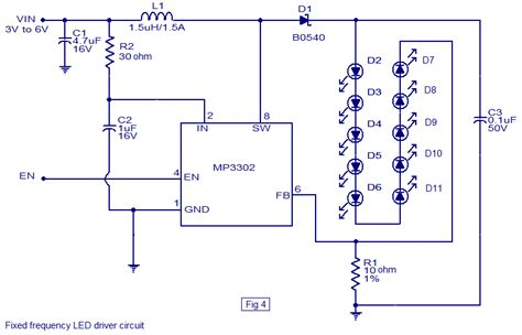 led driver schematic diagram led driver based on mp3302 led driver ic working circuit