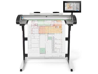 Hp Multifunktionsdrucker 1118 by Gro 223 Formatdrucker Plotter Hewlett Packard I Dtb Office