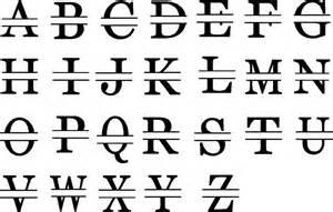 letter name monogram decal trading phrases