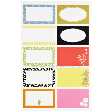 print your own gift labels self sufficiency square gift labels the container store