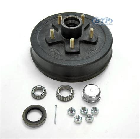 boat trailer drum brakes trailer brake drum hub 5 lug fits 3 500lb axle 5 on 4 1 2