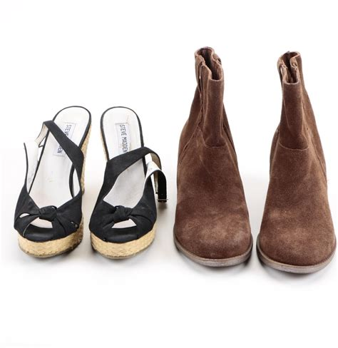steve madden wedge espadrille pumps and reaction brown