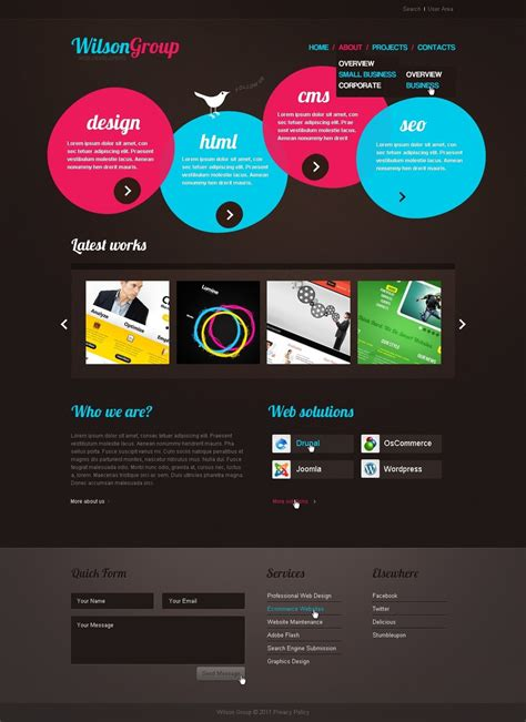 120 free psd website templates