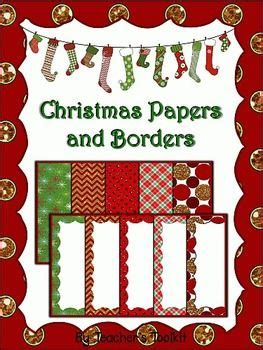 printable christmas in july cards freebie christmas digital papers and borders set 8 5 x