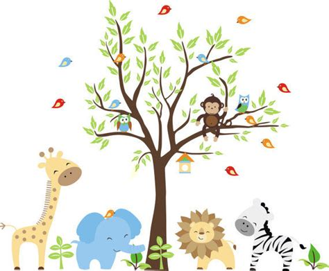 nursery jungle wall mural stickers