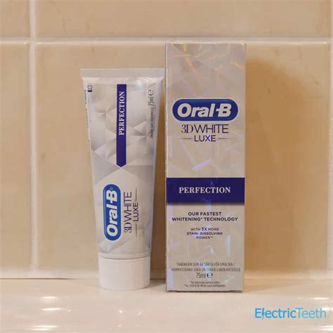 oral   white luxe perfection toothpaste review
