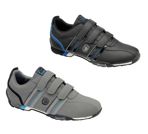 mens new casual black grey velcro walking trainers