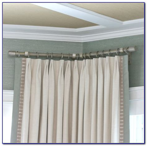 drapery rods for corner windows corner window curtain rod set curtain home decorating