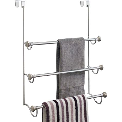 bathroom door towel rack interdesign over the door towel rack in over the door
