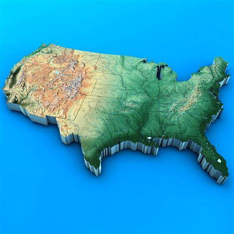 usa map 3d us map 3d