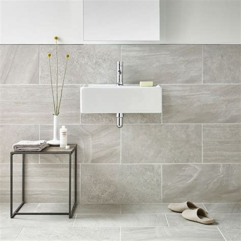 Gray Porcelain Tile Bathroom by Inverno Grey Marble Rectified Wall And Floor Tile Exles An And Grey