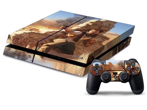 Ps4 Slim Skin Uncharted 4 uncharted front back pvc skin sticker for playstation 4 ps4 console decal for ps 4 decor
