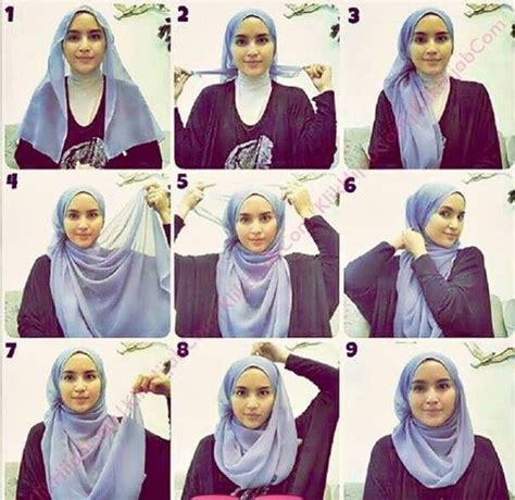 tutorial hijab paris yang syar i 25 kreasi tutorial hijab segi empat simple 2018