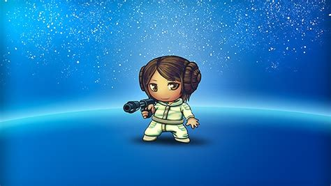 star wars princess leia chibi version hoops