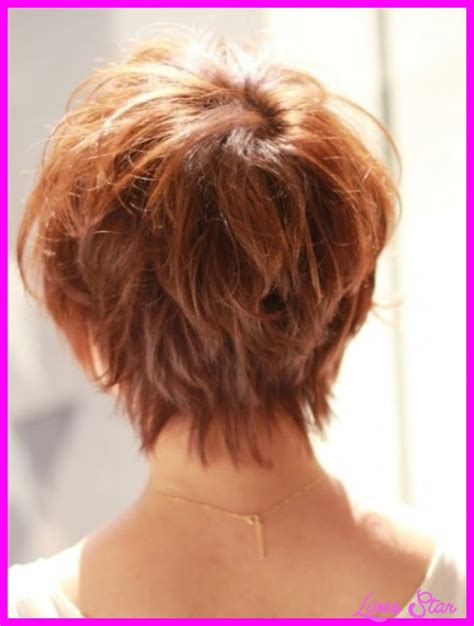 short hair back images back view of short hairstyles stacked livesstar com