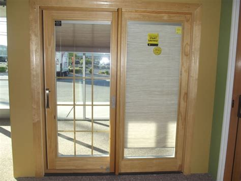 glass patio door sliding patio doors with blinds between the glass