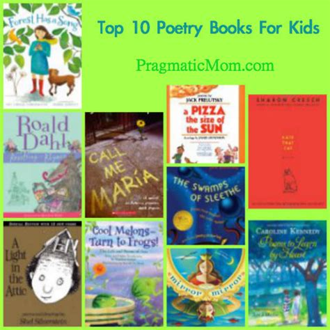 top ten picture books top 10 best poetry books for pragmaticmom