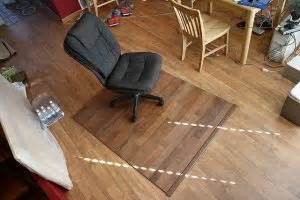 Make Your Own Office Chair Mat by A Plywood Chair Mat Theplywood
