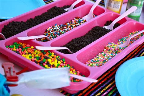 ice cream toppings bar 14 ways to organize using silverware trays