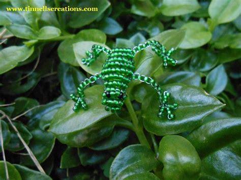 beaded frog 3d beaded frog tinnellscreations