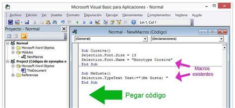 mostrar imagenes visual basic c 243 digos de ejemplos para macros de word en visual basic