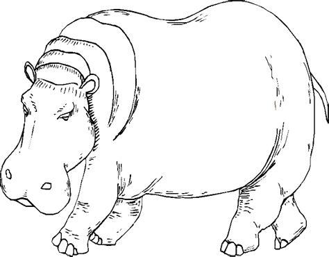 Coloriage De Hippopotame Gratuit A Imprimer Hippo Dessins A Colorier