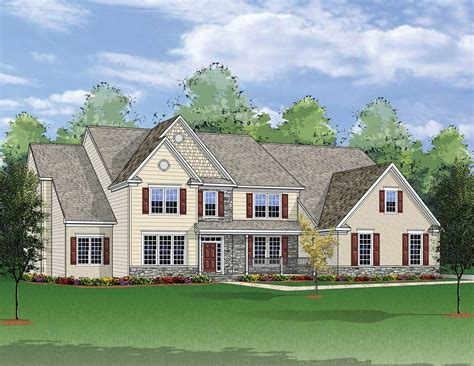 huntington model in the huntington lakes subdivision in the estates at hideaway farms new home community chester