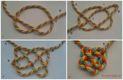 imagenes de nudos como hacer un collar de nudos paso a paso