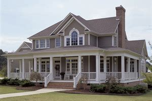 Country House Plans With Porch wrap around porches houseplans com