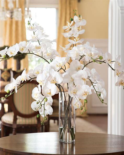 decorative vase vases flower vase flowers orchid white grand phalaenopsis orchid artificial flower arrangement
