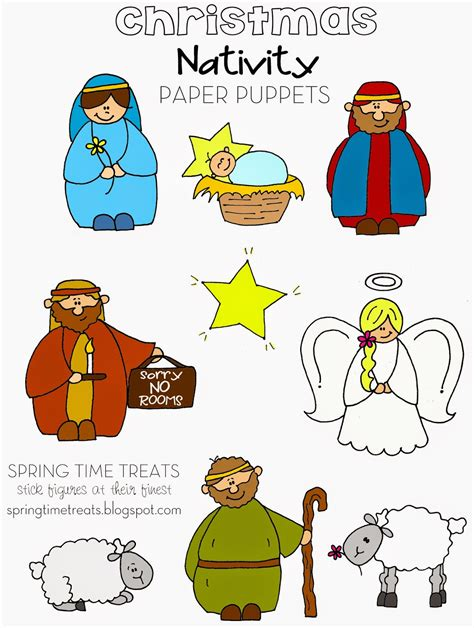 printable children s nativity story spring time treats nativity paper puppets free printables