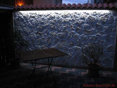beleuchtung mauer riemchen caesar anais ocre bilder