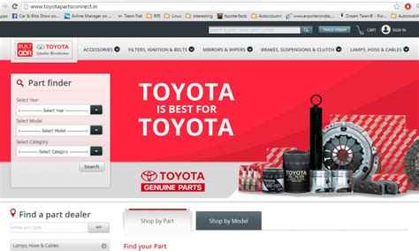 Toyota Accessories Store Toyota Opens Spare Parts Store For India