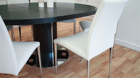 Black Ash Dining Table And Chairs Modern Black Ash Extending Dining Set Stylish Chrome Chairs