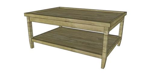 coffee table free coffee table plans