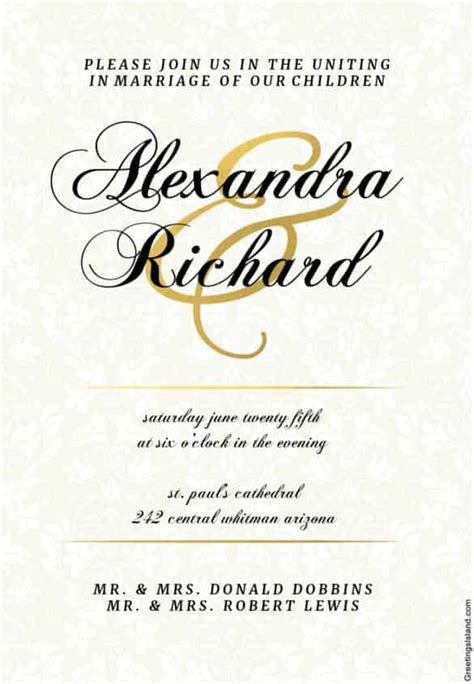 Wedding Invitation Template Works by Wedding Invitation Template 74 Free Printable Word Pdf
