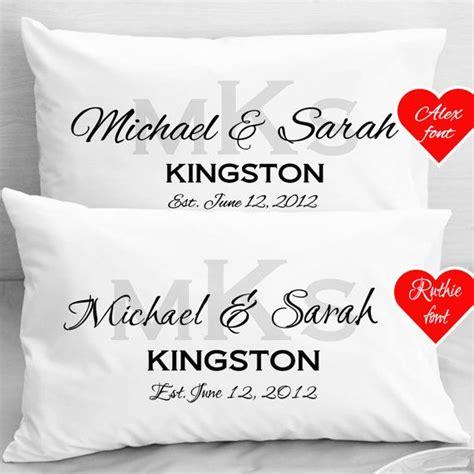 newlyweds gifts personalized wedding pillow cases anniversary newlyweds