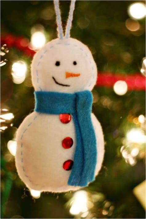 Snowman Handmade - top 10 diy felt tree ornaments top inspired
